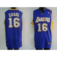 Lakers #16 Pau Gasol Stitched Purple NBA Jersey