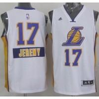 Lakers #17 Jeremy Lin White 2014-15 Christmas Day Stitched NBA Jersey