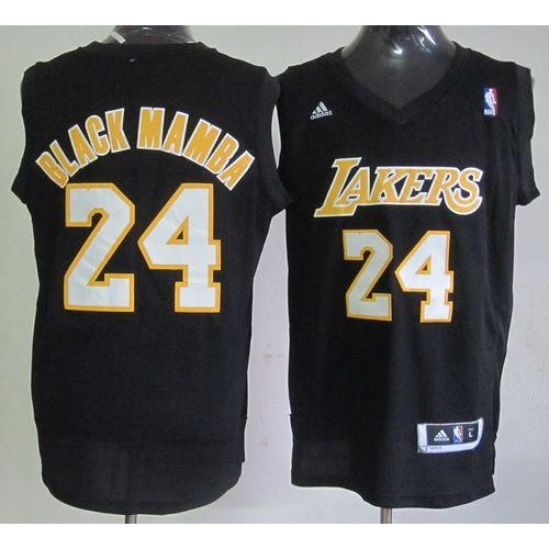 finest selection 20048 c6ad0 Lakers #24 Kobe Bryant Black Mamba Fashion Stitched NBA Jersey