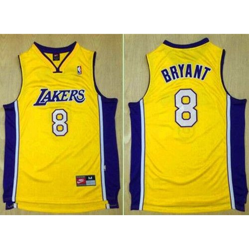 best website d677b 26184 Lakers #8 Kobe Bryant Gold Nike Throwback Stitched NBA Jersey