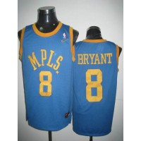 Lakers #8 Kobe Bryant Stitched Baby Blue MPLS NBA Jersey