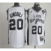 Latin Nights Spurs #20 Manu Ginobili White Stitched NBA Jersey