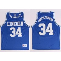 Lincoln He Got Game #34 Jesus Shuttlesworth Blue Stitched Basketball Jersey