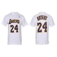 Los Angeles Lakers #24 Kobe Bryant White NBA T-Shirts