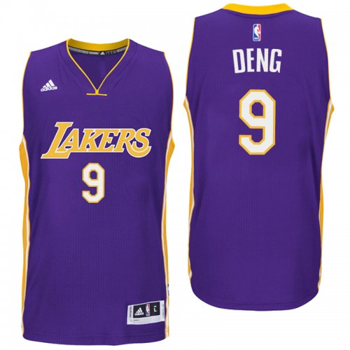 2aeda08d665 Los Angeles Lakers #9 Luol Deng Road Purple New Swingman Jersey
