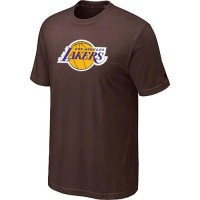 Los Angeles Lakers Big & Tall Primary Logo Brown NBA T-Shirts