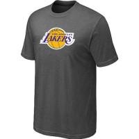 Los Angeles Lakers Big & Tall Primary Logo Crow Grey NBA T-Shirts