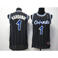 Magic #1 Penny Hardaway Black Throwback Stitched NBA Jersey