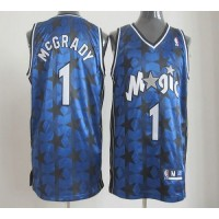 Magic #1 Tracy Mcgrady Blue All Star Stitched NBA Jersey