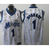 Magic #1 Tracy Mcgrady White Star Limited Edition Stitched NBA Jersey