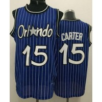 Magic #15 Vince Carter Blue Throwback Stitched NBA Jersey