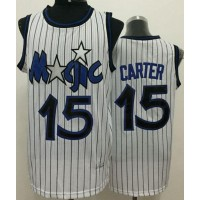 Magic #15 Vince Carter White Throwback Stitched NBA Jersey