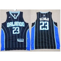 Magic #23 Mario Hezonja Black Stitched NBA Jersey