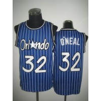 Magic #32 Shaquille O'Neal Blue Throwback Stitched NBA Jersey