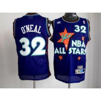 Magic #32 Shaquille O'Neal Purple 1995 All Star Throwback Stitched NBA Jersey