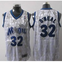 Magic #32 Shaquille O'Neal White Star Limited Edition Stitched NBA Jersey