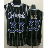 Magic #33 Grant Hill Black Throwback Stitched NBA Jersey