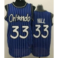 Magic #33 Grant Hill Blue Throwback Stitched NBA Jersey