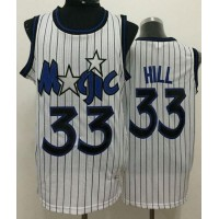 Magic #33 Grant Hill White Throwback Stitched NBA Jersey