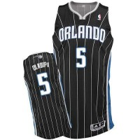 Magic #5 Victor Oladipo Black Revolution 30 Stitched NBA Jersey