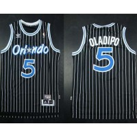 Magic #5 Victor Oladipo Black Throwback Stitched NBA Jersey