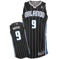 Magic #9 Nikola Vucevic Black Revolution 30 Stitched NBA Jersey