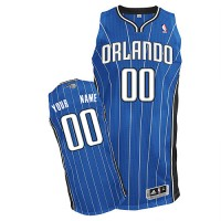 Magic Personalized Authentic Blue NBA Jersey (S-3XL)