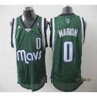 Mavericks #0 Shawn Marion Revolution 30 Green Stitched NBA Jersey