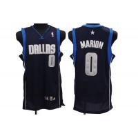 Mavericks #0 Shawn Marion Stitched NBA Blue Jersey