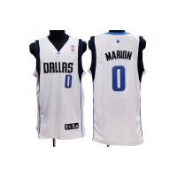 Mavericks #0 Shawn Marion Stitched NBA White Jersey