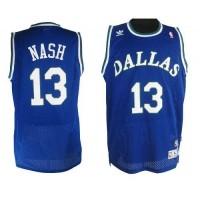 Mavericks #13 Steve Nash Blue Stitched NBA Throwback Jersey