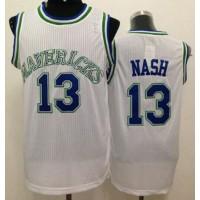 Mavericks #13 Steve Nash White Throwback Stitched NBA Jersey