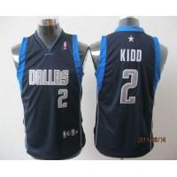 Mavericks #2 Jason Kidd Dark Blue Stitched Youth NBA Jersey