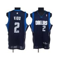 Mavericks #2 Jason Kidd Stitched NBA Blue Jersey