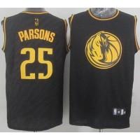 Mavericks #25 Chandler Parsons Black Precious Metals Fashion Stitched NBA Jersey