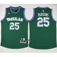 Mavericks #25 Chandler Parsons Green Hardwood Classics Performance Stitched NBA Jersey