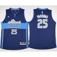 Mavericks #25 Chandler Parsons Navy Blue The City Stitched NBA Jersey