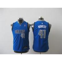 Mavericks #41 Dirk Nowitzki Baby Blue Stitched Youth NBA Jersey