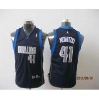 Mavericks #41 Dirk Nowitzki Dark Blue Stitched Youth NBA Jersey