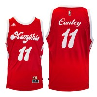 Memphis Grizzlies #11 Mike Conley Red Hardwood Classic Night Swingman Jersey