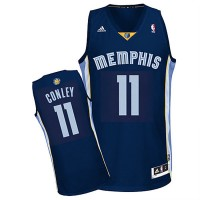 Memphis Grizzlies #11 Mike Conley Revolution 30 Swingman Road Jersey