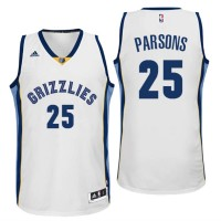 Memphis Grizzlies #25 Chandler Parsons Home White New Swingman Jersey