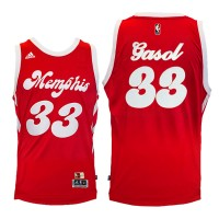 Memphis Grizzlies #33 Marc Gasol Red Hardwood Classic Night Swingman Jersey