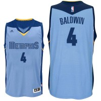 Memphis Grizzlies #4 Wade Baldwin Alternate Blue Swingman Jersey