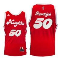 Memphis Grizzlies #50 Zach Randolph Red Hardwood Classic Night Swingman Jersey