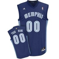 Memphis Grizzlies Customized Dk Blue Adidas Road Jersey