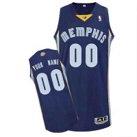 Memphis Grizzlies Customized Dk Blue Road Jersey