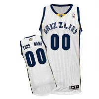 Memphis Grizzlies Customized White Home Jersey