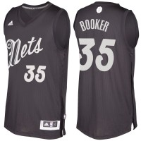 Men's Brooklyn Nets #35 Trevor Booker Black 2016-2017 Christmas Day NBA Swingman Jersey