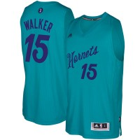 Men's Charlotte Hornets #15 Kemba Walker Teal 2016-2017 Christmas Day NBA Swingman Jersey